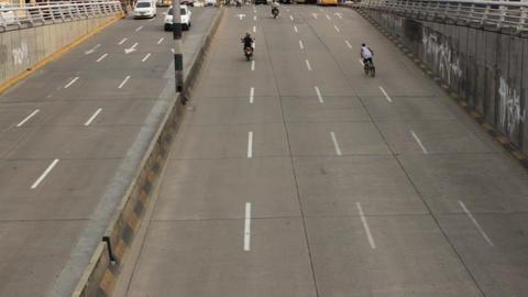 Car Traffic On Onramp Live Action