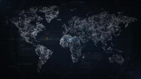 Map connections concept loop 4K background Animation