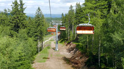 Chairlift ride Footage