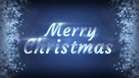 Merry Christmas Snowflakes With Particles Background Stock Video Footage