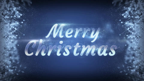 Merry Christmas Snowflakes With Particles Background Animation