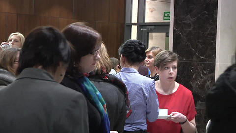 Conference foyer Footage