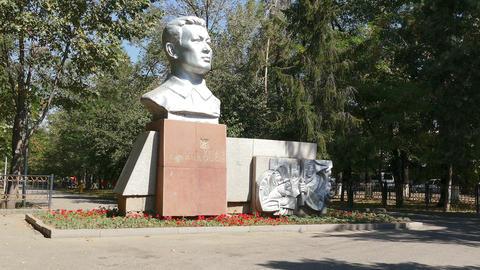 Dzhandosov Monument Time Lapse Almaty 4K Footage