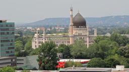 Dresden, Yenidze building. Germany Footage