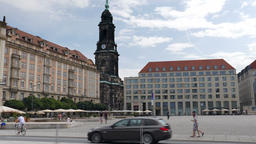 The Dresden city hall. Germany Footage