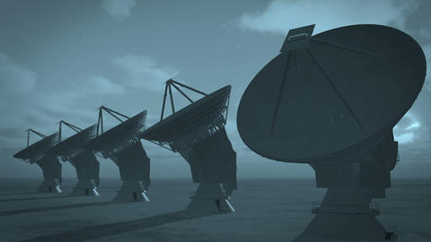 4k Satelite Dishes,Large Radio Observatories-Time Lapse cloud from day to night Footage