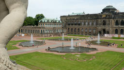 Zwinger palace - famous historic building in Dresden, Saxony, Germany Footage