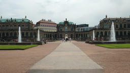 Zwinger palace - famous historic building in Dresden, Saxony, Germany Live Action