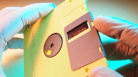 Floppy Diskette Footage