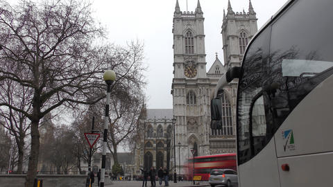 Time lapse. Historic building - Westminster Abbey Live Action