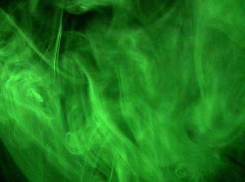 Green Smoke 1 Stock Video Footage