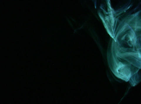 Turquoise Smoke 2 Stock Video Footage