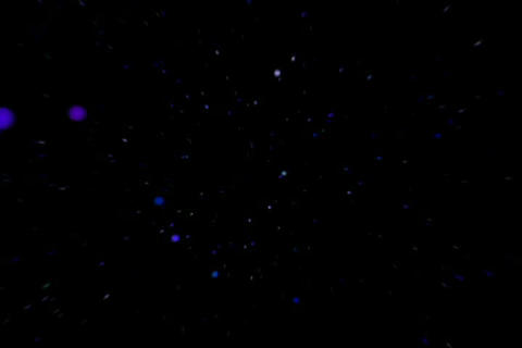 3D Molecule Blue Stock Video Footage