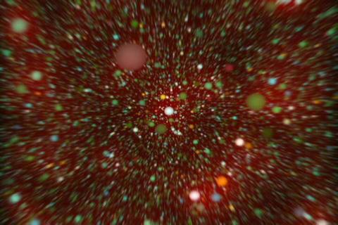 3D molecule Core 4 Stock Video Footage