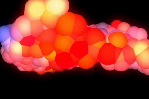 3D Rainbow Molecule Animation