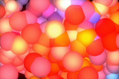 3D Rainbow Molecule Stock Video Footage