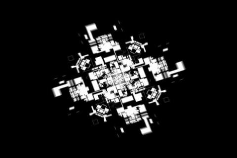 Fly Tunnel 13 sec Animation Stock Video Footage