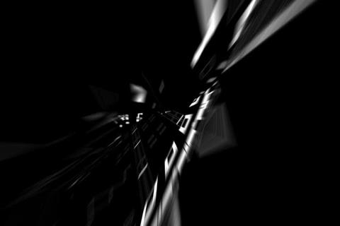 Fly Tunnel Black & White Rotating Animation Animation