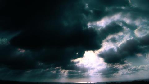 HD Ocean Horizon Cloudscape Stock Video Footage