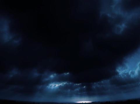 DV OceanHorizon Blue Loop Stock Video Footage