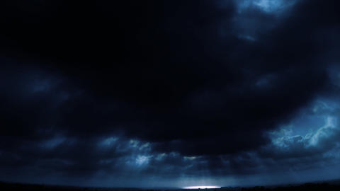 cloudy horizon sky blue Stock Video Footage
