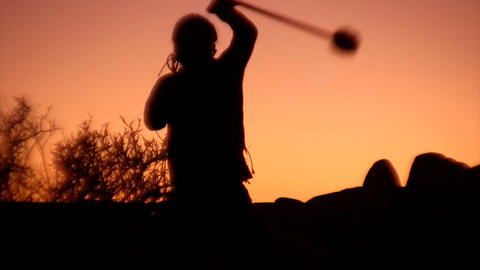 tribal sunset Stock Video Footage