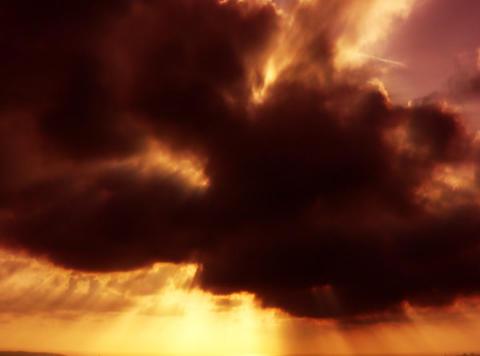 VJLoopH 155 SunsetCloudscape Stock Video Footage