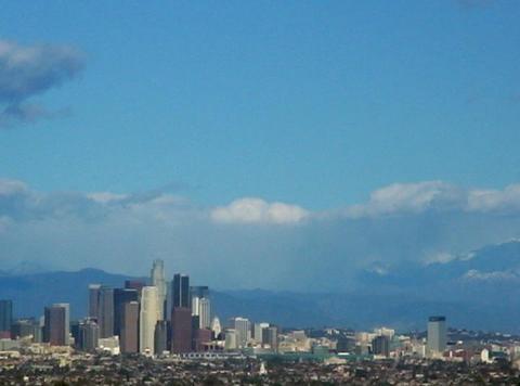 Time lapse LA Downtown 30sec Stock Video Footage
