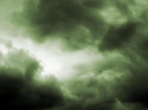 Time lapse Sky Dark green 16sec Stock Video Footage