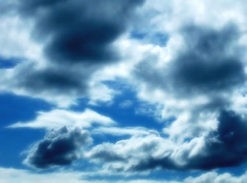 Time lapse Sky Stormy clouds 30sec Stock Video Footage