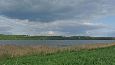 cloud landscape river time lapse Stock Video Footage