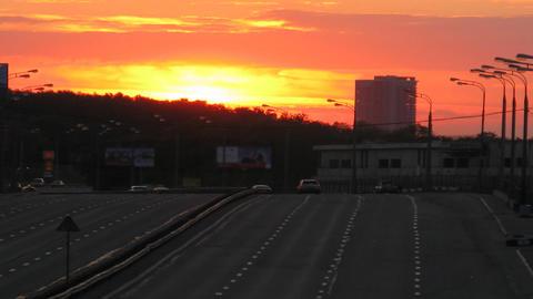sunset traffic time lapse 4 Footage