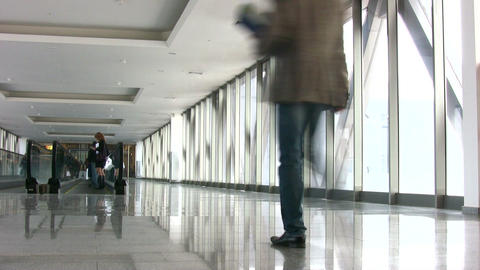 businessman in corridor Stock Video Footage
