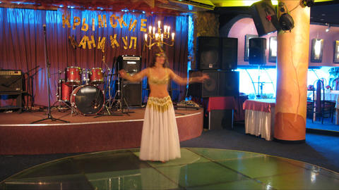 belly dance club time lapse Stock Video Footage