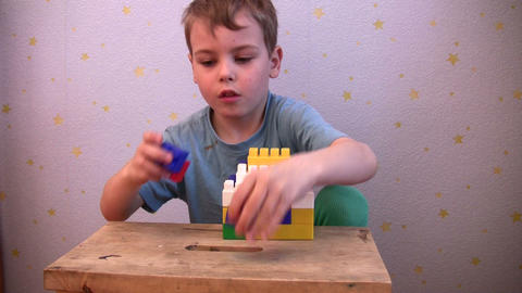 child play toy brick Stock Video Footage