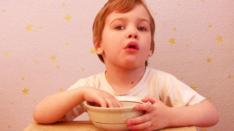 child eating Stock Video Footage