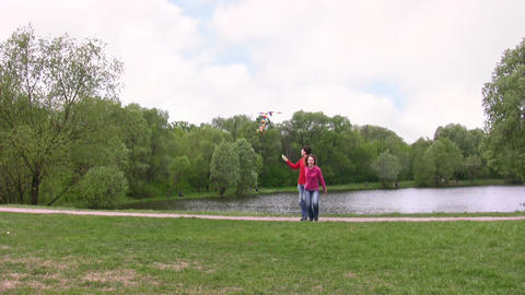 couple with kite Footage