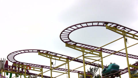 rollercoaster Stock Video Footage