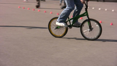 bicycle trick Stock Video Footage