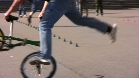 bicycle trick Footage