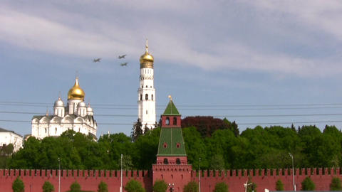 Ceremonial parade. Victory Day 1945 year. Russia Stock Video Footage