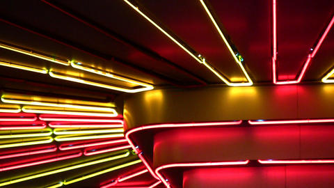 Night Neon Light stock footage