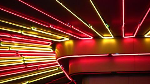 night neon light Stock Video Footage