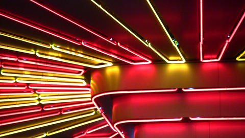 night neon light Stock Video Footage