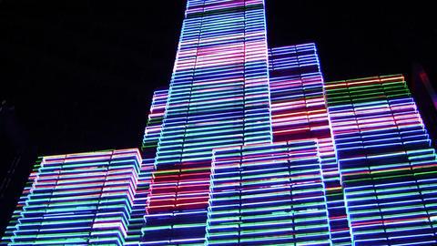 night neon light 3 Stock Video Footage