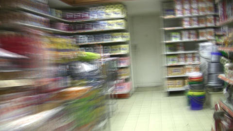 food shop time lapse Stock Video Footage