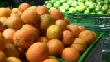 Fruit In Shop stock footage