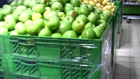 fruit in shop Stock Video Footage