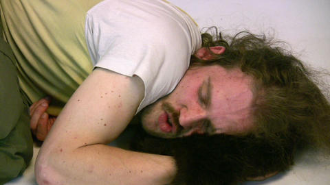 sleep man Stock Video Footage