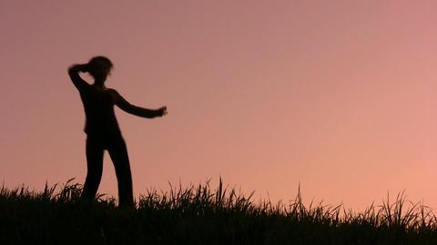 dancing girl Stock Video Footage